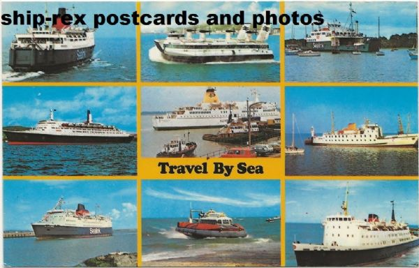 Travel By Sea, postcard